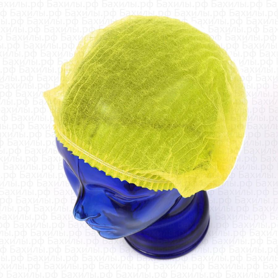Шапочки шарлотта спанбонд цвет жёлтый 100 шт