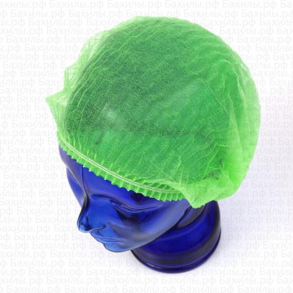 Шапочки шарлотта спанбонд цвет зелёный 100 шт