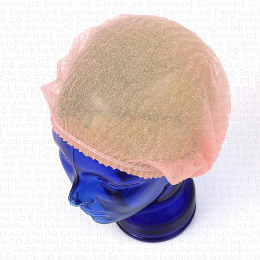 Шапочки шарлотта спанбонд цвет розовый 100 шт